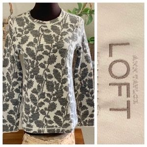 LOFT jacquard paisley sweater PETITE Medium